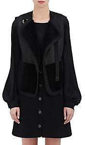 Chloé Women's Shearling & Leather Reversible Vest - Black