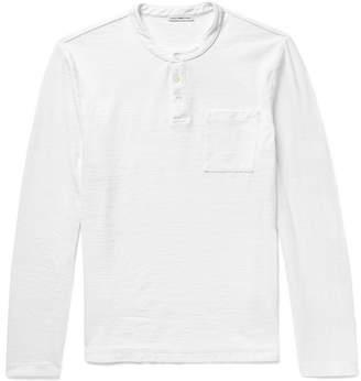 James Perse Zimbabwe Cotton-Jersey Henley T-Shirt - Men - White