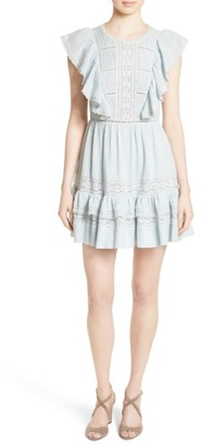 Women's Rebecca Taylor Ruffled Cotton Gauze Dress $395 thestylecure.com