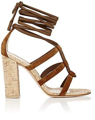 Gianvito Rossi Women's Cayman Suede Ankle-Tie Sandals - Texas