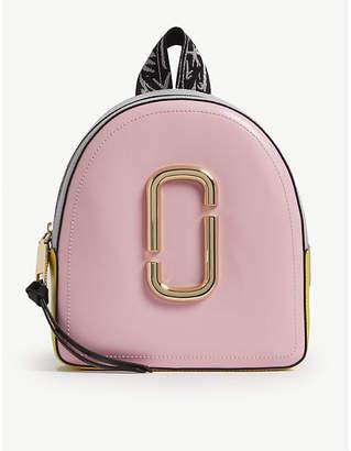 Marc Jacobs Black Pack Shot Leather Backpack