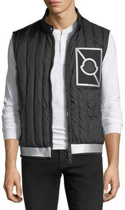Moncler Alasia Quilted Zip-Front Gilet Vest