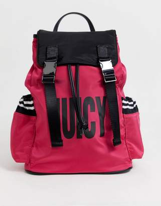 Juicy Couture Juicy kinney multi pocket backpack in black with star print