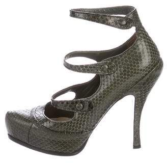Christian Dior Snakeskin Pointed-Toe Pumps
