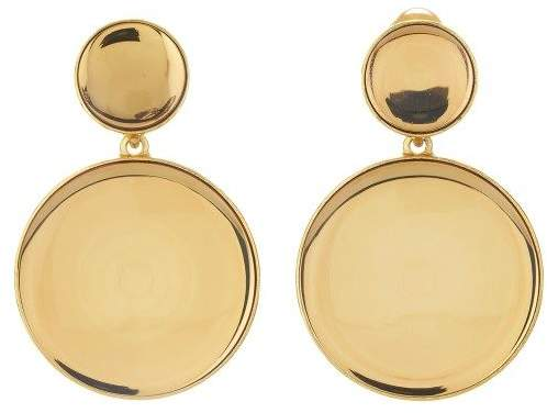Oscar de la Renta Bold Resin Earrings