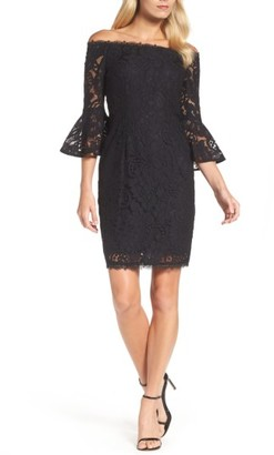 Women's Adrianna Papell Off The Shoulder Lace Sheath Dress $169 thestylecure.com