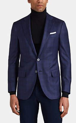 Isaia Men's Sanita Plaid Wool Two-Button Sportcoat - Navy