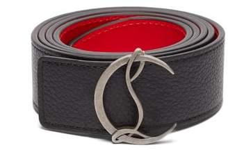 Christian Louboutin Logo Leather Belt - Mens - Black