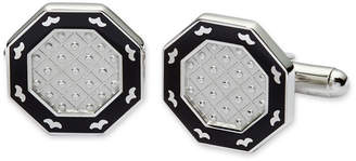 Asstd National Brand Black Enamel Octagonal Cuff Links