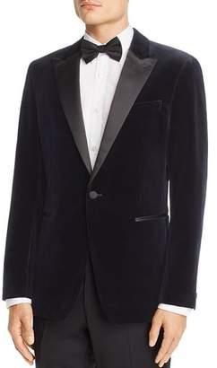 Theory Chambers Velvet Slim Fit Tuxedo Jacket