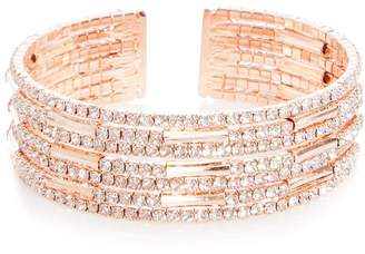 Quiz Rose Diamante Cuff Bracelet