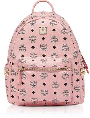 MCM Soft Pink Visetos Stark Side Studs Backpack