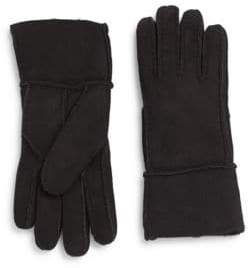 Saks Fifth Avenue Shearling-Lined Suede Gloves