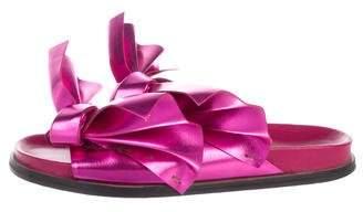 Cédric Charlier Leather Slide Sandals