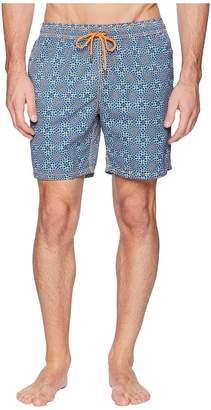 Mr.Swim Mr. Swim Dizziness Elastic Printed Swim Trunk Men's Swimwear
