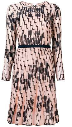 M Missoni beaded trim fitted waist dress