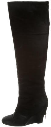 AshAsh Textured Leather Over-the-Knee Boots