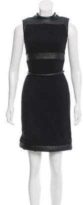 Christopher Kane Leather Trim Dress