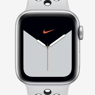 Nike 44mm Silver Aluminum Case Apple Watch Series 5 (GPS + Cellular) with Sport Band