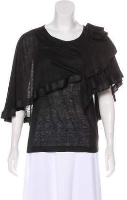 Sonia Rykiel Draped Silk Top