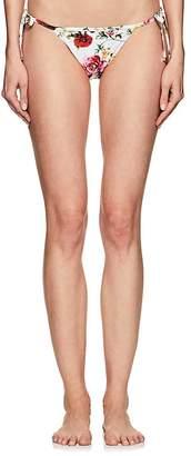 Dolce & Gabbana Women's Rose-Print String Bikini Bottom