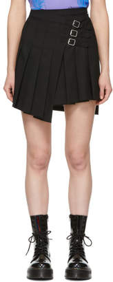 McQ Black Wrap Kilt Miniskirt