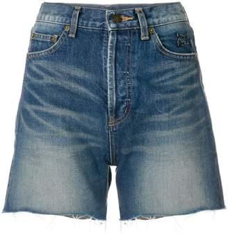 Saint Laurent cut-off denim shorts