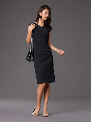 Diane von Furstenberg Cap Sleeve Ruched Jersey Dress