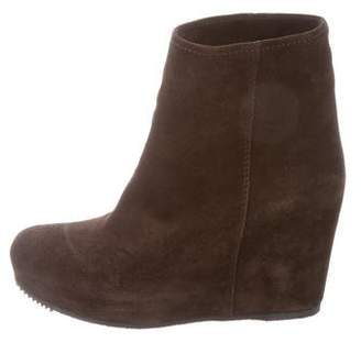 Car Shoe Suede Wedge Boots w/ Tags