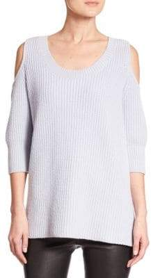 Dias Wool & Cashmere Cold-Shoulder Sweater