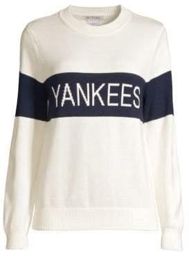 Hillflint Yankees Retro Stripe Crewneck Sweater