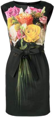 Moschino tie waist floral dress