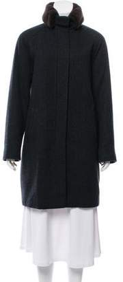 Loro Piana Fur-Trimmed Cashmere Coat
