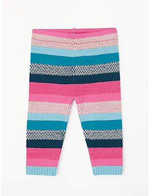 John Lewis Stripe Knit Leggings, Multi