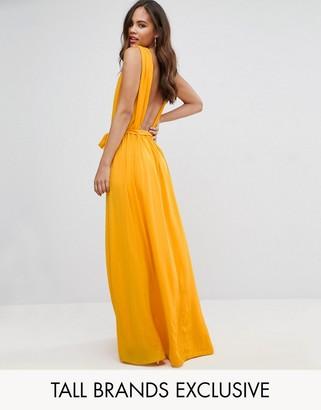 John Zack Tall Plunge Back Maxi Dress $76 thestylecure.com