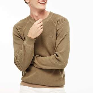 Lacoste Men's Crew Neck Honeycomb Sweater