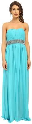 Calvin Klein Strapless Gown with Sequin at Waist CD6B2ZRZ Women's Dress