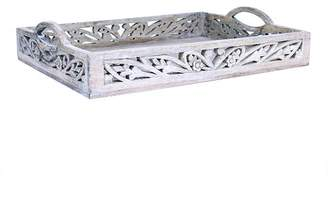 Mela Artisans Orchid Tray in White-Wash