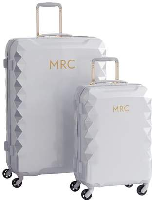 Pottery Barn Teen Luxe Hard-Sided Silver Luggage Bundle, Set of 2
