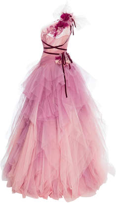 Marchesa SpecialOrder-Ombre Tulle Gown-CZ