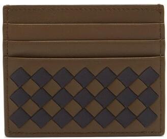 Bottega Veneta Intrecciato Leather Cardholder - Mens - Khaki