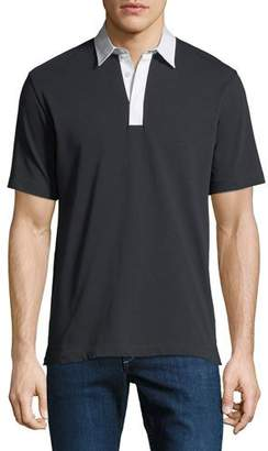 Theory Men's Rope Jersey Rugby Polo Shirt