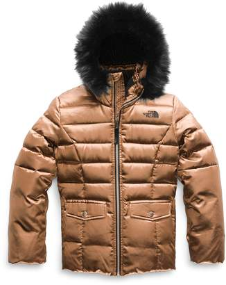 The North Face Gotham 2.0 Water Resistant 550-Fill-Power Down Jacket with Faux Fur Trim