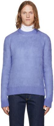 Calvin Klein Blue Mohair Mix Sweater