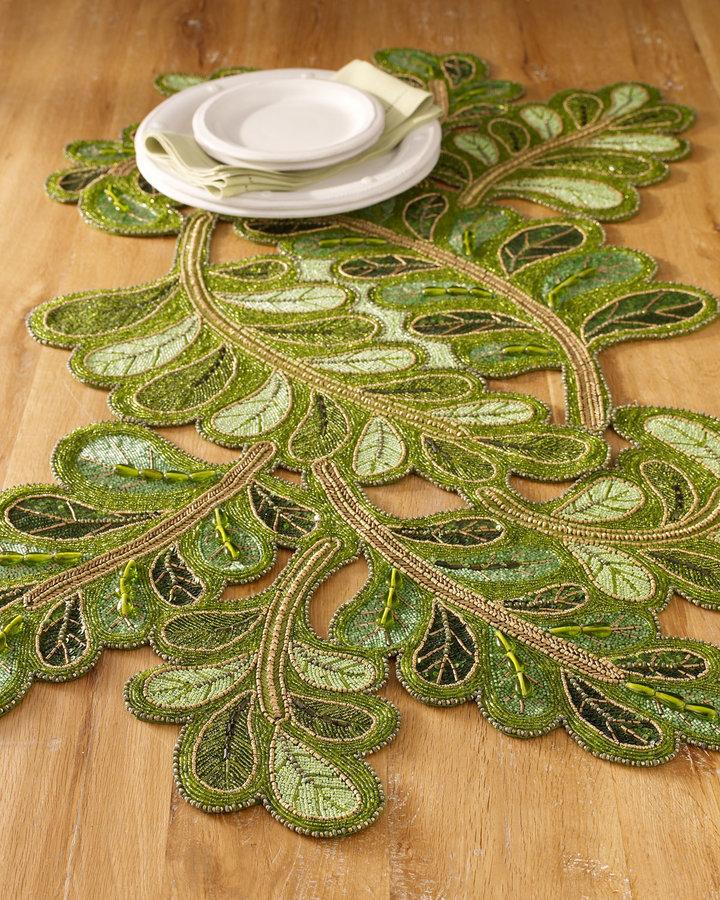 Kim Seybert Neoclassical Leaf Runner