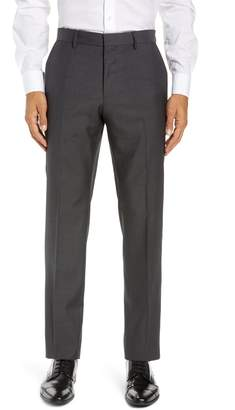 BOSS Giro Flat Front Solid Wool Trousers