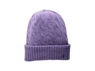 Polo Ralph Lauren Wool Cashmere Classic Cable Cuff Hat