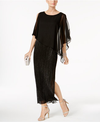 Connected Capelet Metallic Gown $89 thestylecure.com