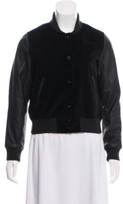 Rag & Bone Leather-Accented Velvet Jacket