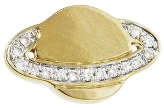 Sydney Evan Pavé Diamond Saturn Stud Earring